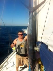 Marlin landed on yacht, Australia