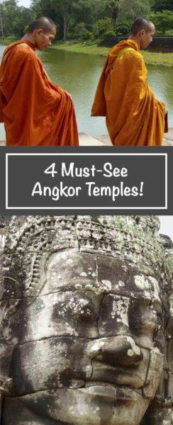 4 Must-see Angkor Temples, Cambodia
