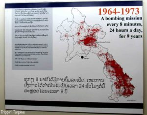 Cluster bomb map of Laos