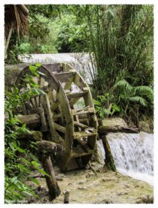 Water wheel at Kuang Si Waterfall, Luang Prabang, Laos