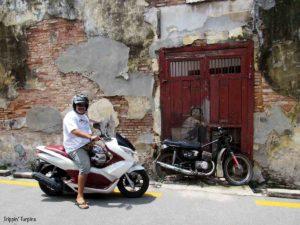 Boy on Bike, Street Art, Georgetown, Panang, Malaysia