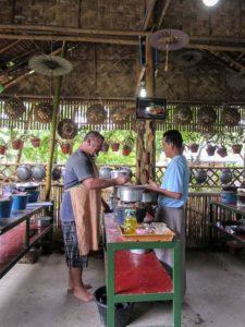 Cooking in Nyuang Shwe, Myanmar