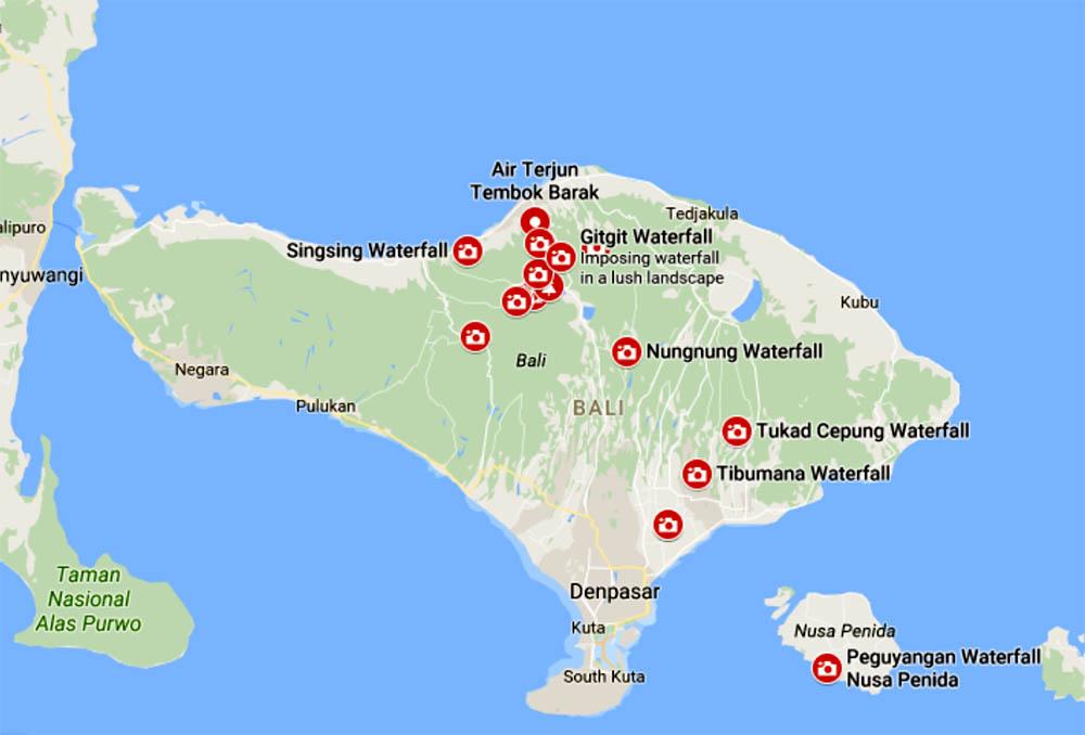 Bali Waterfall Map Trippin Turpins